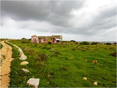 Abandoned or unfinished residence at Ponta da Atalaia (Luc V. de Zeeuw) Tags: atalaia cloudy house pontadaatalaia rock ruin sagres algarve portugal