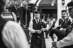 Black Thorne Pipe Band (danperezfilms) Tags: bw absoluteblackandwhite street music people blackandwhite streetphotography bagpipes irish stpatricksday coralsprings florida