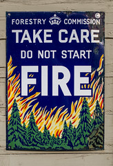 L2018_4781 - Scary Sign - Take Care - Do Not Start FIRE (www.jhluxton.com - John H. Luxton Photography) Tags: 2018 deanforestrailway forestofdean gloucestershire greatwesternrailway johnhluxtonphotography leica leicam leicamtyp262 severnwyerailway uk westcountry railway wwwjhluxtoncom forestrycommission fire firewarningsign sign enamelsign norchard norchardstation
