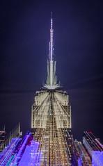 Empire State of Mind (aurlien.leroch) Tags: empirestateofmind nyc usa newyorkcity empirestatebuilding nikon longexposure rooftop night abstrait abstract