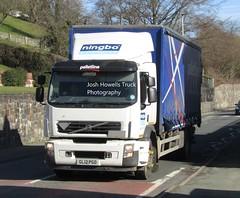 Ningbo Distribution GL12 PGO at Llanfair Caereinion (Joshhowells27) Tags: lorry truck volvo curtainsider ningbodistribution malpas gl12pgo palletline