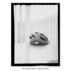 Bicycle Helmet (Godfrey DiGiorgi) Tags: fujigs645s hp5 bicycle bw filmlab firstroll helmet ride scan testing santaclara california usa