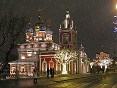 Moscow walks (janepesle) Tags: russia moscow architecture night light church orthodox street city cityscape christmas new year celebration outdoors urban tree travel москва варварка