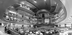 Panoramic view of Symphony Hall, Birmingham. (Manoo Mistry) Tags: birmingham birminghampostandmail englanduk westmidlands nikon sym symphonyhall musichall arena blackandwhite monochrome panoramic