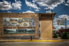 Welcome to Nashville, IL.....and Girolamo Pizza (donnieking1811) Tags: illinois nashville girolamopizza art mural painting building sign firehydrant street hdr canon 60d lightroom photomatixpro