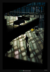 Shapes of light (Ilan Shacham) Tags: light shadow man geometry repetition texture abstract street fineart fineartphotography harpa reykjavik iceland building architecture graphic