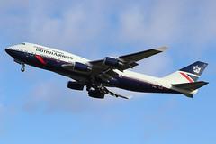 G-BNLY Boeing 747-400 @ Dublin 9th March 2019 (_Illusion450_) Tags: britishairways ba ba100 gbnly airport aircraft airplane airline airlines aeroplane aeroport aviation avion retro landor dublin dub dublinairport eidw flughafen boeing 747400