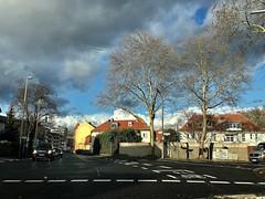 #BadGodesberg (RenateEurope) Tags: 2019 renateeurope iphoneography weatherphotography sky clouds trees urban street streetphotography nrw rheinland bonn badgodesberg