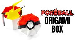 Origami Pokeball Box Tutorial - Pokemon DIY - Paper Kawaii (paperkawaii) Tags: origami instructions paperkawaii papercraft diy how video youtube tutorial