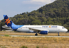 Israir Airlines A320-200 4X-ABF (birrlad) Tags: rhodes rho international airport greece aircraft aviation airplane airplanes airline airliner airlines airways taxi taxiway takeoff departing departure runway airbus a320 a320200 a320232 israir 4xabf