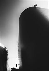 F_MG_5299-1-BW-Canon 6DII-Canon 16-35mm-May Lee 廖藹淳 (May-margy) Tags: maymargy bw 黑白 人像 逆光 剪影 現代建築 水塔 草坪 台灣攝影師 幾何構圖 點人 街拍 線條造型與光影 天馬行空鏡頭的異想世界 心象意象與影像 台中市 台灣 中華民國 fmg52991bw portrait backlighting silhouette water tower camera man 男人 taiwanphotographer humaningeometry humanelement taichungcity taiwan repofchina canon6dii canon1635mm maylee廖藹淳 streetviewphotographer linesformandlightandshadow mylensandmyimagination naturalcoincidencethrumylens