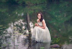 Water Lillies ({jessica drossin}) Tags: woman jessicadrossin water lillies lily pad green dress pretty wwwjessicadrossincom