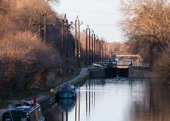 River Lee Navigation (Francis Mansell) Tags: water river canal riverlea riverleenavigation riverlee boat lock vehicle tree pole reflection