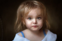 Just Woke Up ({jessica drossin}) Tags: jessicadrossin portrait toddler child face eyes blue tired baby