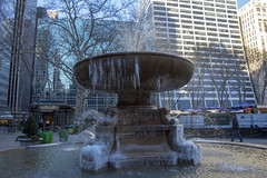 Josephine Shaw Lowell Memorial Fountain Bryant Park (Glenn Pye) Tags: josephineshawlowellmemorialfountain bryantpark newyork fountainn ice nikon nikond7200