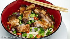 Crispy belly pork (garydlum) Tags: birdseyechillies fennel parsley pork porkbelly redonion springonion canberra australiancapitalterritory australia au