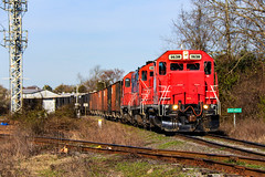 Greenville Spotting (BravoDelta1999) Tags: carolinacoastal clna railroad norfolksouthern ns railway northcarolina emd gp9r gp9rm 4630 4012 4628 manifest train 119 greenville