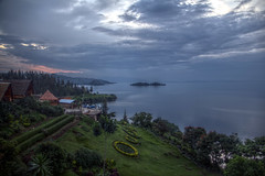 Lake Kivu (pbr42) Tags: rwanda kivu lakekivu kibuye hdr water h2o lake landscape coast coastline sky cloud island grass