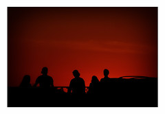 enjoying sunset (Armin Fuchs) Tags: arminfuchs stpetersburg russia sunset people red silhouette bridge whitenights jazzinbaggies