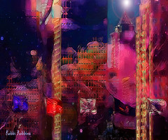 Urban Vibe (brillianthues) Tags: abstract city urban skyline philadelphia colorful collage photography photmanuplation photoshop