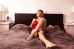 red temptation (PhotoFreakx) Tags: red lingerie sexy wife girl woman lady mistress missis love porn erotic feet lehgs boobs fetish blonde perv kink bizarre lumix fz1000 slut cuckold bisexual lesbian swingers
