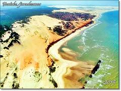 Uma vista magnífica de parapente sobre a praia Canoa Quebrada - Aracati - Ceará (juramontenegro) Tags: atlãntico jangadas turismo aérea foto vista paragliding parapente brasil panorama imagem costa nordeste brasileiro