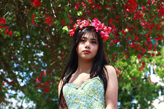 IMG_2701 (Sharmila Padilla) Tags: flowers lady canon portrait ladies balloon outside play pinkflowers pink photography street modes happy joy smile pretty sports white road makeup