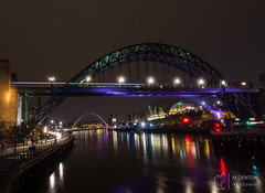 Tyne Bridge at Night (mikedenton19) Tags: newcastle upon tyne newcastleupontyne river bridge tynebridge tyneside night nightphotography city reflection