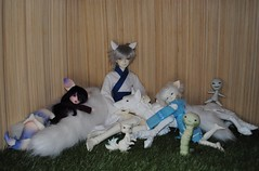 fox-spirit-party (Wildcard_Snowy) Tags: dream valley purple oceanmoon ocean moon hwalan soha camellia dynasty ling nympheadolls chouchou poltergeist bjd sd13 mystic kids hybrid yosd ball jointed doll balljointeddoll fantasy fox wolf cuarto cuartodolls hecate pet