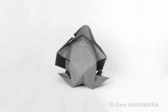 ゴリラ2019 / Gorilla 2019 (Gen Hagiwara) Tags: origami paper folding papercraft craft art animal genhagiwara gorilla ape