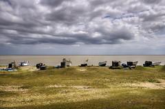 Turn Off The Humanity (Dimmilan) Tags: uk england suffolk sizewell beach sea ocean water seascape coast sky sunshine clouds boats seaside nature horizon