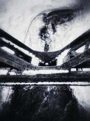Frozen (Edna Winti) Tags: ednawinti alberta canmore winter snow ice bowriver enginebridge