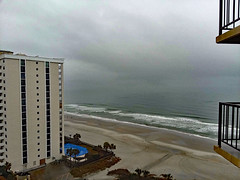 View From Our Balcony. (dccradio) Tags: myrtlebeach sc southcarolina horrycounty hilton hotel lodging motel resort hiltonresort outdoor outdoors outside february monday mondayafternoon goodafternoon afternoon travel workingvacation water waves ocean atlantic atlanticocean beach shore tree trees palm palmtrees city building architecture resorts hotels tallbuildings skyscraper grass lawn greenery sand bodyofwater samsung galaxy smj727v j7v cellphone cellphonepicture