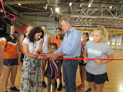 Indoor netball stadium opening, Darwin 24/01/2019