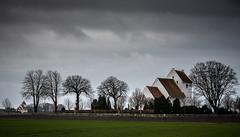 Which church do you prefere (hanschristian_nielsen) Tags: church tree sky grass field landscape cloud lolland denmark herredskirkekirke branderslevkirke
