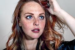 What Exactly's Going On Down Here? (○gus○) Tags: nikond750 1050mm dc afdcnikkor105mmf2d ƒ71 1200 portrait ritratto woman donna gaze sguardo girl ragazza eyes occhi freckle freckles lentiggini lentiggine redhead redhair hair capellirossi capelli cr ʂ