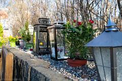 Lanterns (Bill Herndon) Tags: flickr galärvarvskapellet k30 pentax stockholm sweden cemetery flowers graveyard lanterns park published roses wrherndon stockholmcounty se