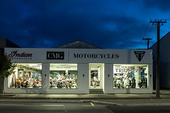 Christchurch Motor Group - Motorcycles (081/365) (johnstewartnz) Tags: canon apsc 100canon canonapsc eos 7dmarkii 7d2 7d canon7dmarkii canoneos7dmkii canoneos7dmarkii 2470 2470mm ef2470mmf4l canonef2470f40l tripod shop motorcycle motorcycles motorcycleshop cmg christchurchmotorgroup dusk bluehour 365project project365 onephotoaday2019 onephotoaday oneaday