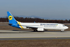 Ukraine International Airlines - Boeing 737-8AS(WL), UR-PST (Bernd 2011) Tags: boeing 7378aswl 737 738 ukraineinternationalairlines aviationfra fra eddf taxiing