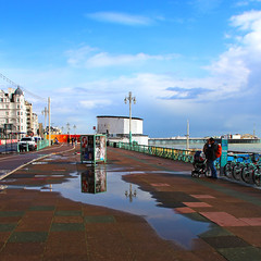 After The Rain (WHO 2003) Tags: brighton promenade aftertherain puddles reflections