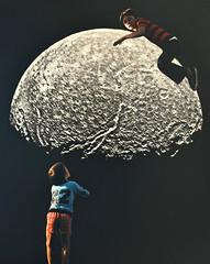 Cosmic Playground II (Djuno Tomsni) Tags: collage handmade paper cutpaste analog surreal surrealism space sky moon retro vintage visual art artwork djunotomsni