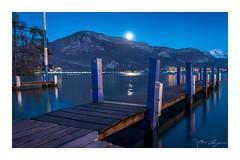 Heure bleue sur le lac (Mathieu Rougnon) Tags: hautesavoie d800 1424mm nikon lake mountains montagnes france lac annecy