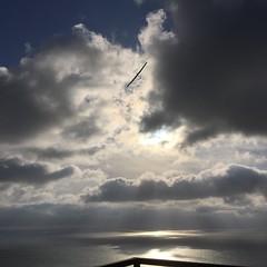 Glider in the Sky (hinxlinx) Tags: glider plane port torrey pines city park sun ocean sea cloud sky