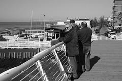 Ladispoli (tamasmatusik) Tags: ladispoli beach people morning walk italy italia monochrome blackandwhite bw feketefehér sony a6000 30mm sigma sigmalens sea seaside street streetphotography streetpic