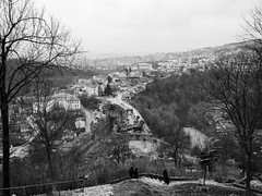 Old city (@Dpalichorov) Tags: city village old panasonicgx80 panasonic gx80 wideangle wide angle panorama house houses high view bulgaria velikoturnovo великотърново forest trees tree river sunny sunnyday day bw bandw blackwhite blackandwhite monochrome landscape landscapes nature