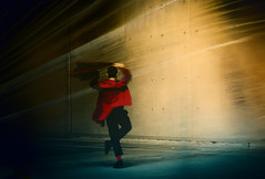 ballet dancer (mare_maris) Tags: dancer man person silhouette body redcoat balletdancer ballet modern performer art action adult balance choreography dancing elegance flexibility male motion maremaris nikon photography explore alone red fantacy fashion one street town tendreness urban coat cute happyness harmony
