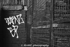 Metal graffiti - Water lane in Leeds 11. (Please follow my work.) Tags: art artistic blackandwhite blackwhite bw biancoenero inbiancoenero bianco blancoynegro blanco blancoenero candid d7100 dark england enblancoynegro ennoiretblanc excellentphoto flickrcom flickr google googleimages gb greatbritain graffiti interesting leeds ls11 mamfphotography mamf monochrome metal nikon nikond7100 northernengland noiretblanc noir negro photography pretoebranco qualityphotograph schwarzundweis schwarz sex uk unitedkingdom upnorth westyorkshire zwartenwit zwartwit zwart