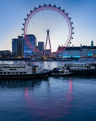 King Edwards Eye (JH Images.co.uk) Tags: hdr dri london water reflection londoneye colour red reflections boat river riverthames