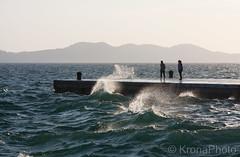 Windy pier, Zadar, Croatia (KronaPhoto) Tags: croatia vår sunset people water splash wet waves bølger nature pier brygge windy seaside seascape landscape landskap solnedgang silhuett