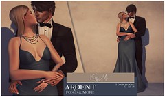 Ardent Poses - Kiss Me Ad (Ardent Poses) Tags: secondlife second life sl avatar 2nd 2ndlife avi virtual vr 3d inworld poses pose ardent photography people exclusive avatars event love couple couples release new hold broderick logan ena roane enaroane bento advertisement sidewalk sale ardentposes